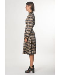 Momoní - Printed Dress In Gold - Lyst
