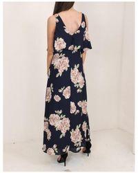 Dex - Floral Cold Shoulder Maxi Dress - Lyst