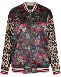 Maison Scotch - Women's Silky Feel Mixed Print Bomber Jacket With Lurex - Lyst
