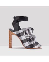 Miista - Aldara Dusk Check Sandals - Lyst