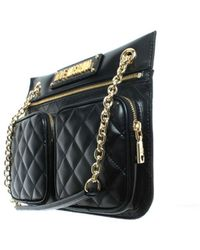 efa18c1c185 Love Moschino Large Quilted Shopper Bag in Black - Lyst