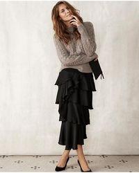 Part Two - Janeta Frill Skirt Black - Lyst