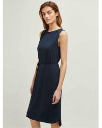 58a4d5db Ganni Harley Crepe Wrap Dress In Vanilla Ice - Lyst
