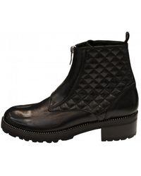 Lorenzo Masiero - Women's W193552 Biker Ankle Boots In Black - Lyst