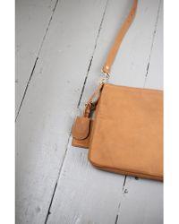 Vanessa Bruno Athé - Lune Coffee Calfskin Leather 2-zip Bag - Lyst