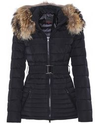 FROCCELLA - B211 Quilted Fur Trim Belted Jacket - Lyst