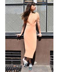 Numph - Anara Shell Coral Jersey Dress - Lyst