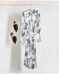 Gestuz - Floria Long Silk Shirt Dress - Lyst