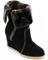 Mellow Yellow - Radoucir Black Boots - Lyst