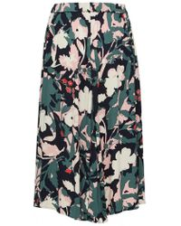 SELECTED - Sienna Floral Skirt In Dark Sapphire - Lyst