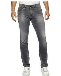 Tommy Hilfiger - Tommy Jeans Slim Scanton Springfield Grey Stretch Jeans - Lyst
