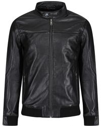 Ted Baker - Men's Zipped Leather Bomber Jacket - Lyst
