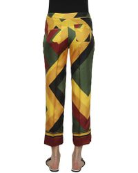 For Restless Sleepers - Geometric Multicolor Pants - Lyst