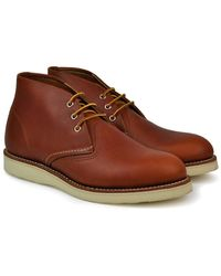 Red Wing Work Chukka Boot Oro-iginal Leather - Brown