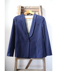 Bellerose - Elle Navy Blue Jacket - Lyst