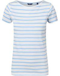 GANT - Women's O2. Breton Stripe Ss T-shirt - Lyst