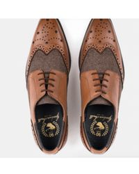 Goodwin Smith - Chapel Leather Twill Brogues - Lyst