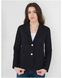 Armani Jeans - Linen Blazer With Contrast Buttons - Lyst
