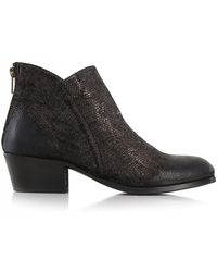 H by Hudson - Apisi Metallic Pewter Ankle Boots - Lyst