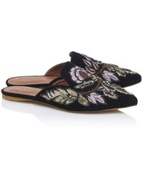 Jeffrey Campbell - Embroidered Flat Loafers In Black - Lyst