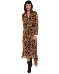 Essentiel - Antwerp Rus Leopard Midi Dress - Lyst