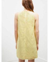 Great Plains - Linen Shift Dress In Lemon - Lyst