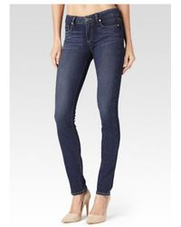 PAIGE - Skyline Mid Rise Skinny Jeans - Lyst