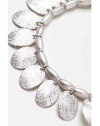 Atterley - Silver Droplet Bracelet - Lyst