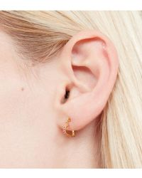 Tada & Toy - Sweetheart Hoops Gold - Lyst