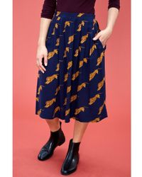 Atterley - Faye Tigers Pleated Skirt - Lyst