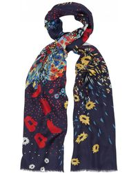 Lily and Lionel - Poppy Field Silk Scarf - Lyst