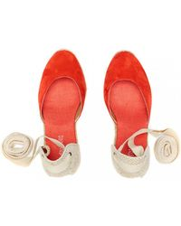 Soludos - Red Suede Wedge Espadrilles - Lyst