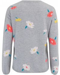 Cocoa Cashmere - Floral Crew Neck Jumper - Lyst