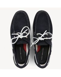 Tommy Hilfiger Suede Boat Shoes - Blue