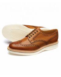 Loake Cobra Vipe Soled Shoes - Brown