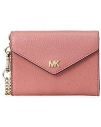 5a82e812cb21 MICHAEL Michael Kors - Michael Kors Cryll Chain Small Pink Wallet - Lyst