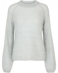 Second Female - Fanny Knit O-neck Chin Green - Lyst