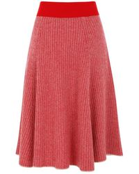 Antik Batik - Lina Red Skirt - Lyst
