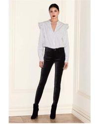 PAIGE - Hoxton Velvet Skinny Jeans - Lyst