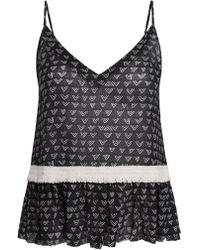 lemlem - Lulu Cami And Pants Set Black White - Lyst