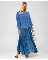 Alice + Olivia - Katz Wet Look Pleated Maxi Skirt - Lyst