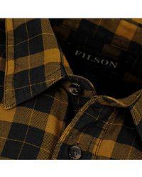 Filson - Lightweight Alaskan Guide Shirt Black / Mustard - Lyst