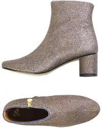 Stine Goya - Kansas Violetta Glitter Ankle Boots - Lyst