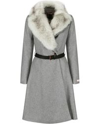Ted Baker - Women's Narniaa Faux Fur Collar Skirted Coat - Lyst