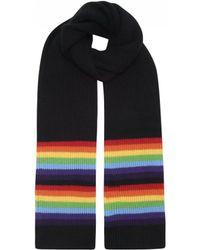 Madeleine Thompson - Batuu Scarf In Black/rainbow - Lyst