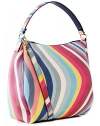 PS by Paul Smith Leather Swirl Print Hobo Bag - Multicolour