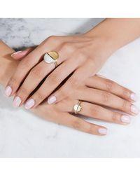Rachel Jackson - Mini Half Moon Silver Adjustable Ring - Lyst