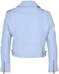 IRO - Ashville Biker Jacket In Bleached Blue - Lyst