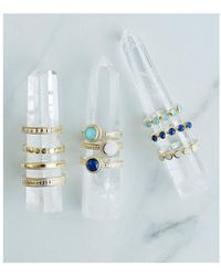 Anna Beck - Clarity White Agate Single Stone Ring - Lyst