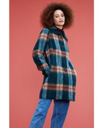 Emily and Fin - Eloise Olive Plaid Coat - Lyst